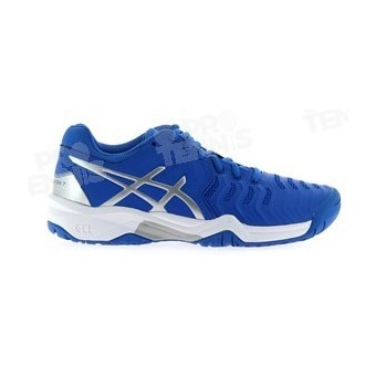 ASICS GEL RESOLUTION 7 JUNIOR BLEU / GRIS / BLANC AH17