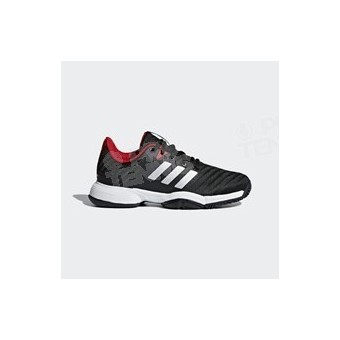 CHAUSSURES ADIDAS ENFANT BARRICADE 2018 NOIR / BLANC / ROUGE