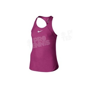 NIKE COURT SLAM TANK FILLETTE ROSE/BLANC