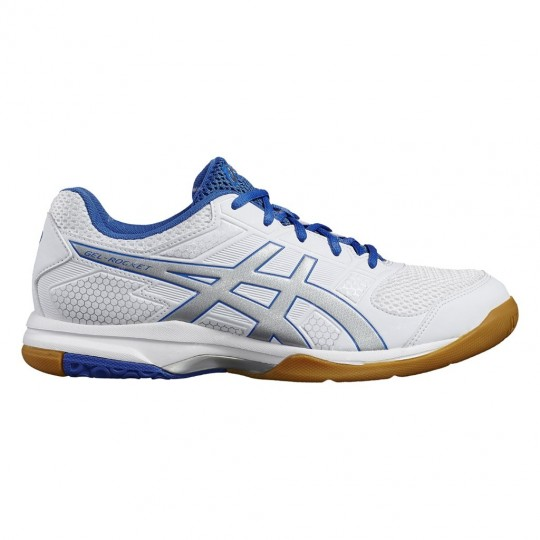 ASICS GEL ROCKET 8 MEN BLANC / SILVER / BLEU AH17 INDOOR