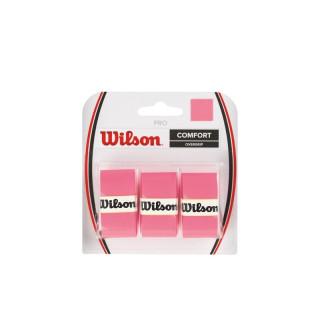 WILSON PRO OVERGRIP PACK 3 ROSE