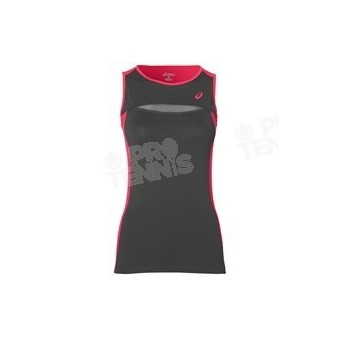 ASICS WOMEN CLUB TANK TOP GRIS / ROSE SS17