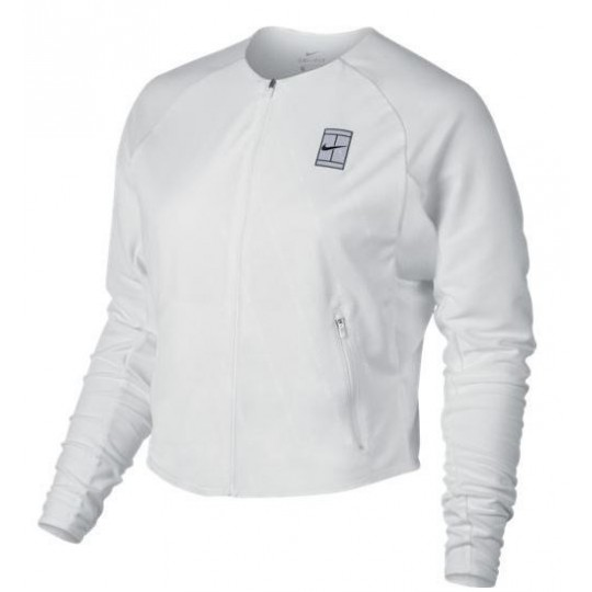 NIKE WOMEN COURT LOGO DRY JACKET BLANC