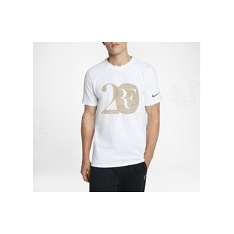 T-SHIRT NIKECOURT ROGER FEDERER 20 BLANC / OR PRINTEMPS 2018