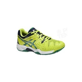 ASICS GEL RESOLUTION 6 JUNIOR JAUNE/VERT/MARINE