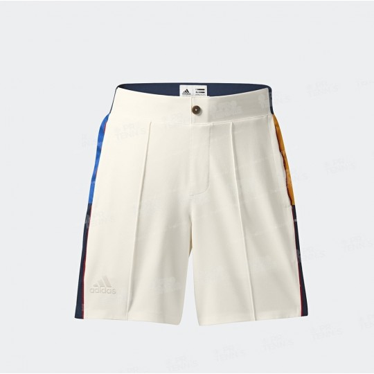 SHORT ADIDAS BOY PHARRELL WILLIAMS NY BLANC / MULTICOLORE