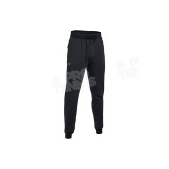 PANTALON UNDER ARMOUR HOMME THREADBORNE FLEECE STACKED NOIR