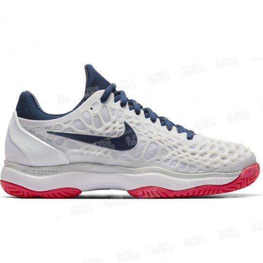 CHAUSSURES NIKE AIR ZOOM CAGE 3 LADY BLANC / BLEU / ROSE
