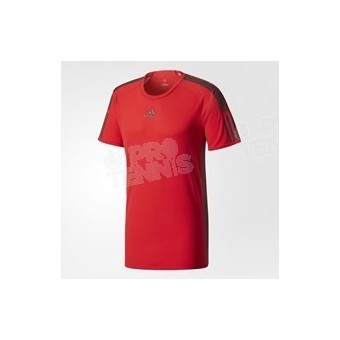 T-SHIRT ADIDAS BARRICADE ROUGE / NAVY AH17