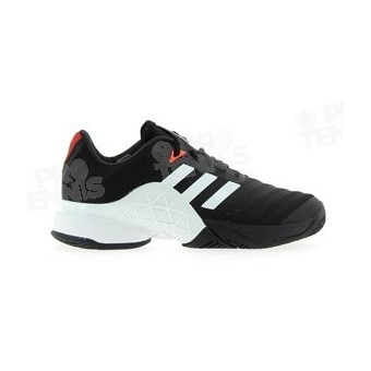 CHAUSSURES ADIDAS BARRICADE 2018 NOIR / BLANC / ROUGE PE18