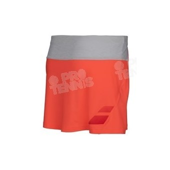BABOLAT GIRL PERFORMANCE SKIRT FLASH RED / GRIS