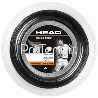 CORDAGE HEAD SONIC PRO 130 NOIR BOBINE 200m