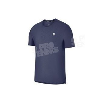 T-SHIRT NIKECOURT HOMME CHECKERED SS TOP BLEU RECALL