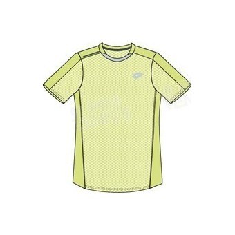 LOTTO MEN DRAGON TECH TEE JAUNE FLUO