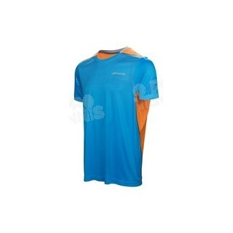 BABOLAT MEN PERF CREW NECK TEE BLEU / ORANGE