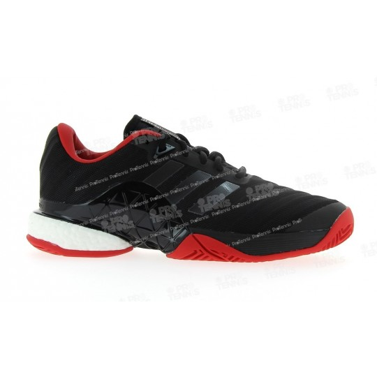CHAUSSURES ADIDAS HOMME BARRICADE BOOST NOIR / BLANC / ROUGE