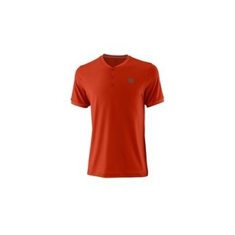 T-SHIRT WILSON HOMME HENLEY PRO ROUGE PE18