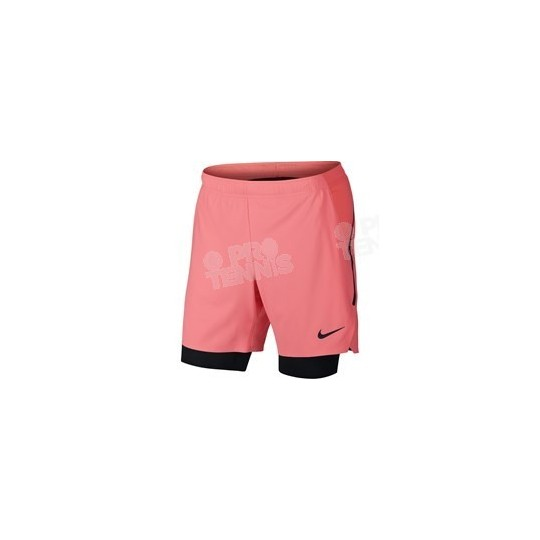 SHORT NIKE HOMME FLEX ACE PRO CORAIL / NOIR PRINTEMPS 2018