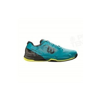 CHAUSSURES WILSON RUSH PRO 2.5 HOMME BLEU / LIME PE18
