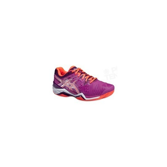 ASICS GEL RESOLUTION 6 CLAY LADY VIOLET/CORAIL