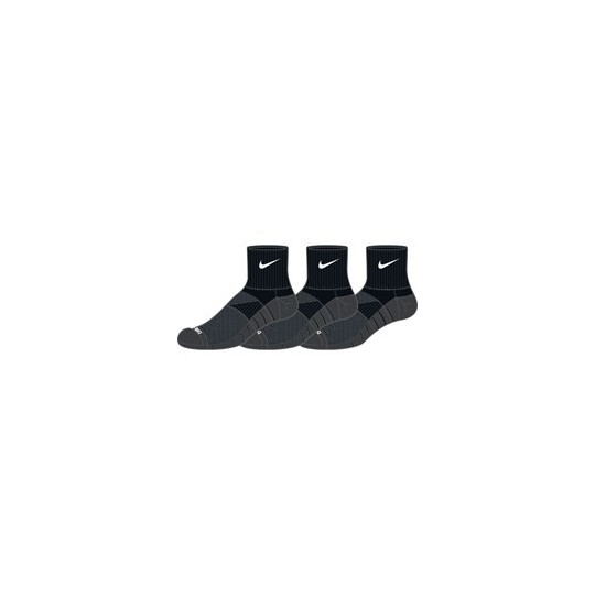 NIKE DRY LIGHTWEIGHT SOCKS X3 COURTES DRI-FIT NOIRES