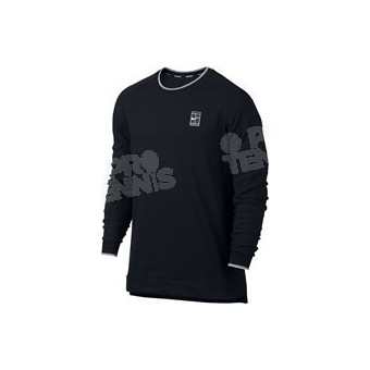 NIKE MEN COURT LOGO LS TOP NOIR / BLANC