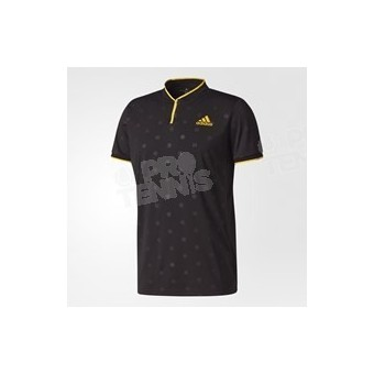 POLO ADIDAS MEN LONDON NOIR / JAUNE AH17
