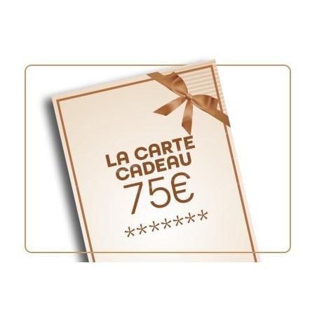 Chèque cadeau de 75€