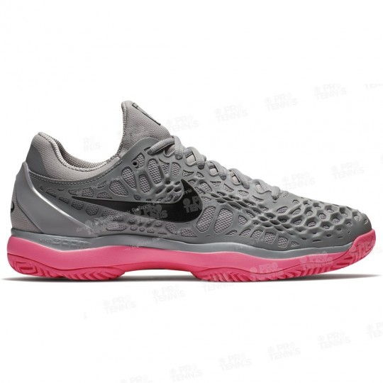CHAUSSURES NIKE AIR ZOOM CAGE 3 HOMME GRIS / CORAILGris et rouge corail