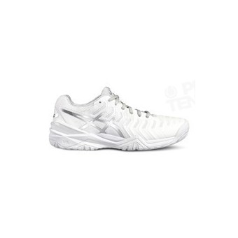 ASICS GEL RESOLUTION 7 LADY BLANC / GRIS PE18