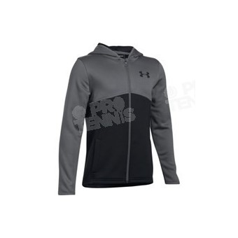 VESTE UNDER ARMOUR FLEECE JUNIOR NOIR / GRIS AH17