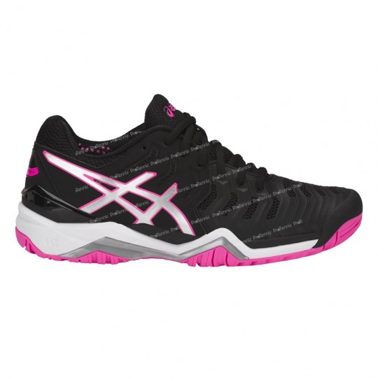 CHAUSSURES ASICS GEL RESOLUTION 7 LADY NOIR / ROSE PE18