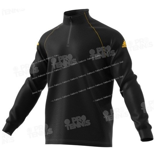 SWEAT ADIDAS HOMME CLUB MIDLAYER NOIR / JAUNE AH17