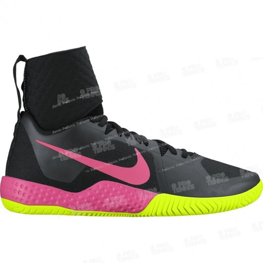 NIKE WOMEN COURT FLARE NOIR/VOLT/ROSE