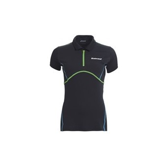 BABOLAT GIRL MATCH PERFORMANCE POLO GRIS FONCE