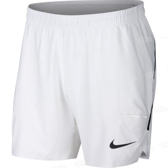 SHORT NIKE HOMME FLEX ACE 7 BLANC PRINTEMPS 2018
