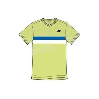 LOTTO MEN COURT TEE LIME / BLEU PE17