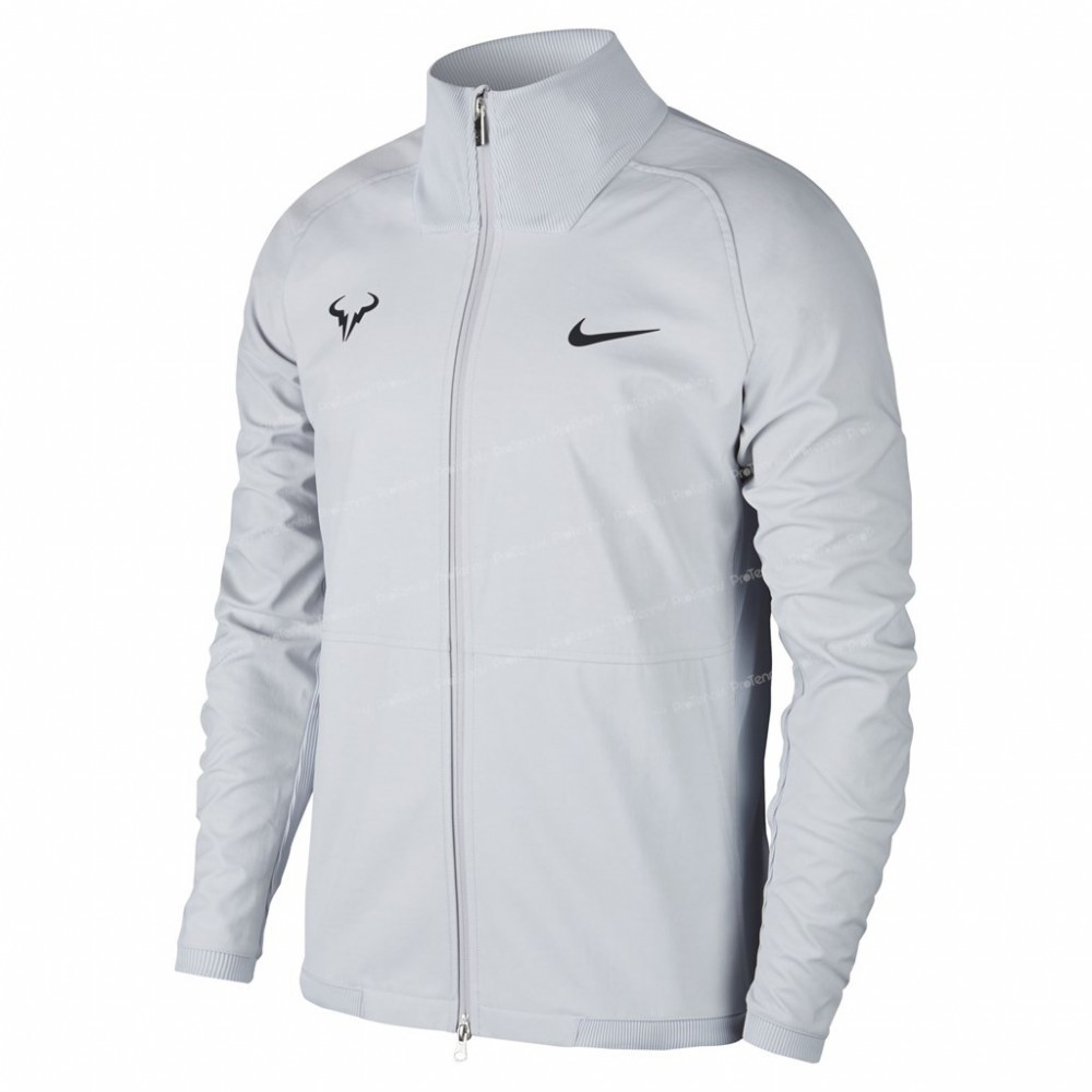 veste nike homme rafael nadal gris clair printemps 2018 veste de tennis homme. Black Bedroom Furniture Sets. Home Design Ideas