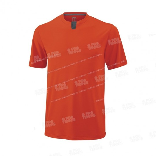 T-SHIRT WILSON HENLEY ORANGE
