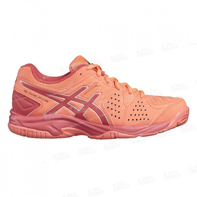 8287558f3d73 Asics Gel Padel Pro 3 Junior Corail   Rouge Ah17 Chaussure De Tennis ...