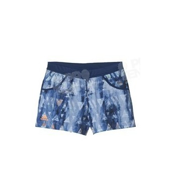ADIDAS GIRLS MELBOURNE SHORT NAVY / ORANGE GRAPHIC SS17