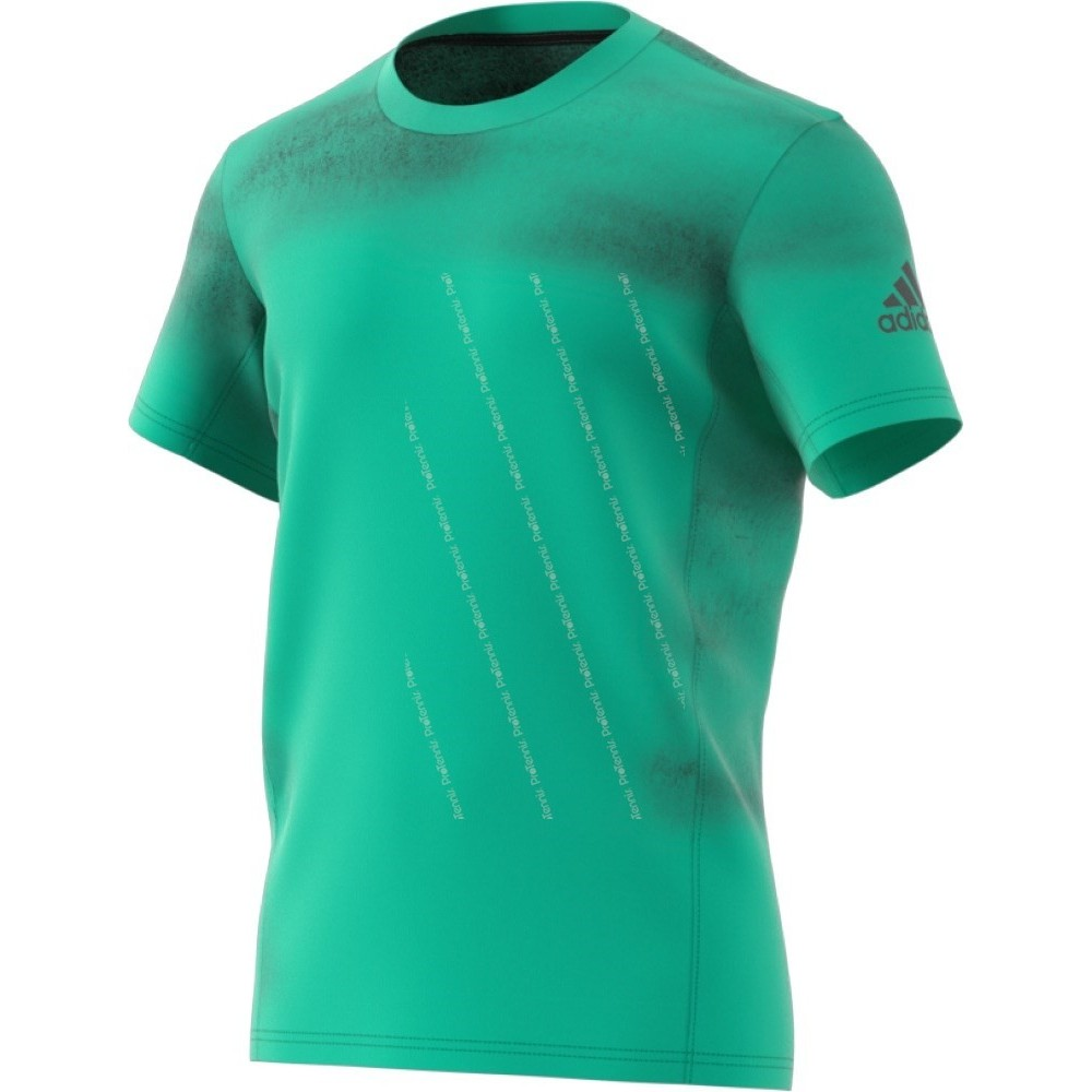 t shirt adidas homme melbourne printed vert pe18 t shirt de tennis. Black Bedroom Furniture Sets. Home Design Ideas