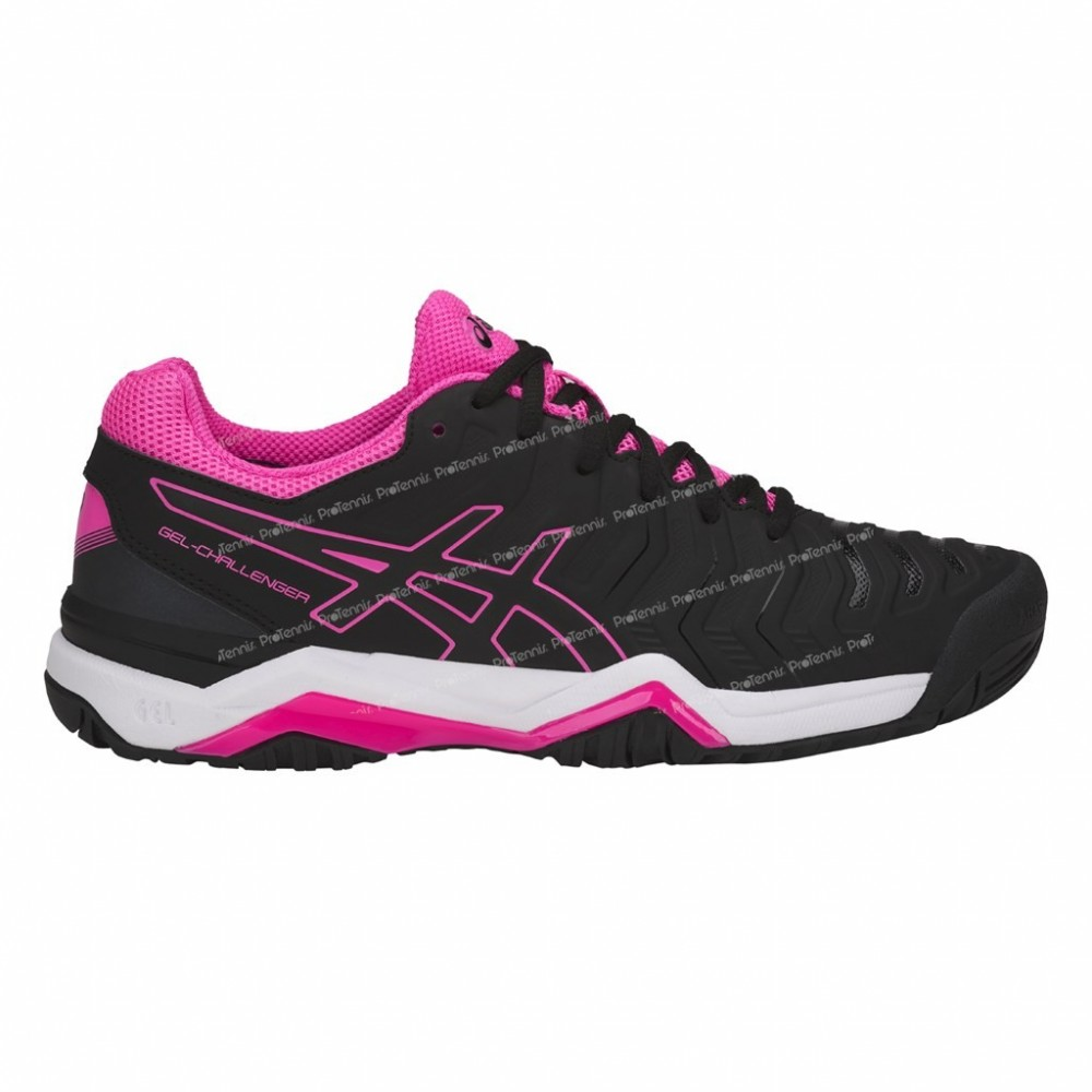 CHAUSSURES ASICS GEL CHALLENGER 11 LADY NOIR / ROSE PE18 ...