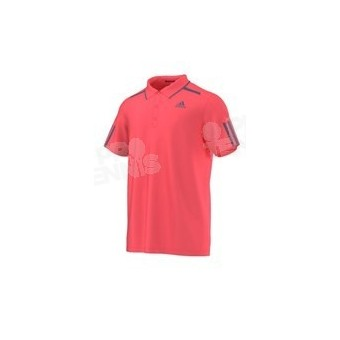 ADIDAS MEN BARRICADE POLO ROUGE FLUO