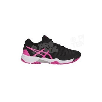 CHAUSSURES ASICS GEL RESOLUTION 7 JUNIOR NOIR / ROSE PE18