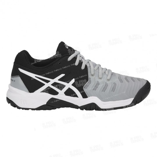 CHAUSSURES ASICS GEL RESOLUTION 7 JUNIOR NOIR / GRIS PE18