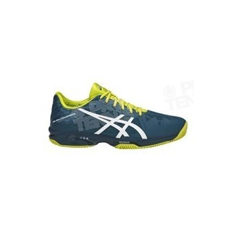 CHAUSSURES ASICS GEL SOLUTION SPEED 3 TERRE B. BLEU / JAUNE