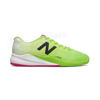 CHAUSSURES NEW BALANCE 996V3 LIME / BLANC / ROSE AH17