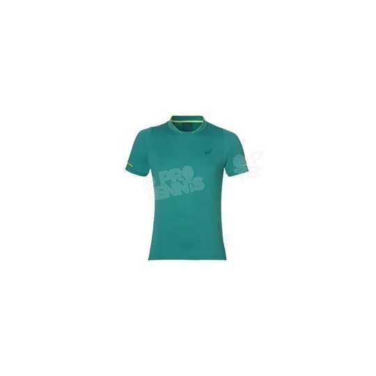 T-SHIRT ASICS ATHLETE SS TOP BLEU LAPIS / LIME AH17
