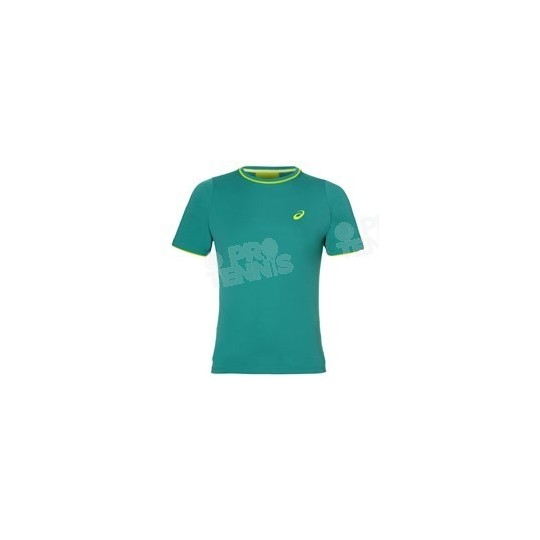T-SHIRT ASICS HOMME CLUB TOP BLEU LAPIS / LIME AH17